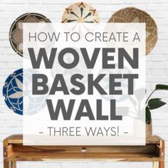 Whether your decor style is Boho, Coastal - even Minimalist - there's a set of woven basket wall decor out there with your name on it! Coastal Wall Decor, Diy Wall Decor, Rocking Chair Cushions, Eco Friendly House, Basket Decoration, Baskets On Wall, Sustainable Design, Simple House, How To Take Photos