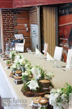 eko dekoracje stołu Młodej Pary / eco bride and groom table decorations