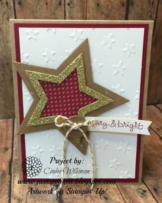 Just Sponge It: Merry and Bright Holiday Star Card