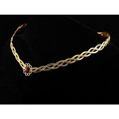 Medieval Elven gold plated garnet circlet ($4.17) ❤ liked on Polyvore featuring crowns, jewelry, accessories, coroa, circle, circular and round
