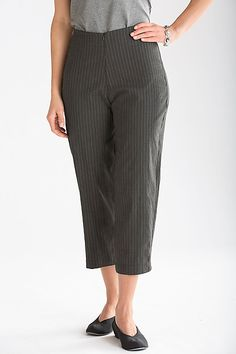 Ankle Slider Pant by Spirithouse: Woven Pant available at www.artfulhome.com