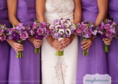 #wedding flowers #purple #bouquets