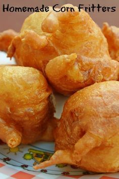 Homemade fried corn fritters just like my Mama use to make. Eat just like they are or drizzle with syrup for a delicious treat. Corn Fritter Recipes, Corn Recipes, Vegetable Recipes, Veggie Dishes, Appetizer Recipes, Snack Recipes, Snacks, Appetizers, Recipes