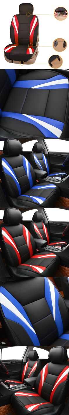 Car Pass Luxury Summer Seat Cover Universal Cushion 2 Color Red Blue