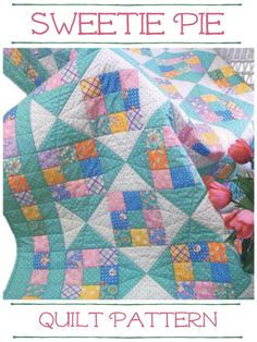 This quilt pattern is a great project to use up scraps (or fat quarters). #pattern #quilt #quilting #scrappy #fatquarters #affiliate