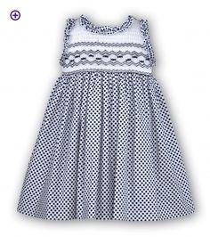 Full Smocked Dress - SARAH LOUISE 8419 - Little Cherubs Clothing
