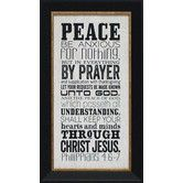 Found it at Wayfair - Peace Framed Textual Art