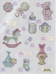 Cross-stitch Baby motifs part 2 Baby Cross Stitch Patterns, Cross Stitch For Kids, Cross Stitch Books, Cross Stitch Love, Cross Stitch Cards, Cross Stitch Borders, Cross Stitch Alphabet, Cross Stitch Designs, Cross Stitching