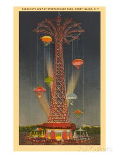 $30; Parachute Jump Ride, Coney Island, New York City Prints at AllPosters.com