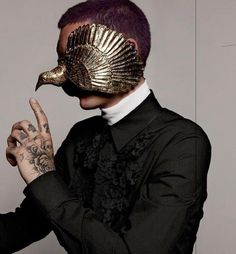 victorian avant garde dark fashion aesthetics dark mask and jewelry Arte Fashion, Mens Fashion, Gothic Fashion, Trendy Fashion, High Fashion, Fashion Ideas, Fashion Design, Fashion Trends, Mode Sombre