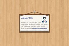 Hanging Sign - free #psd