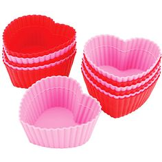 Wilton Silicone Baking Cups 12-Pack, Heart for 9.99