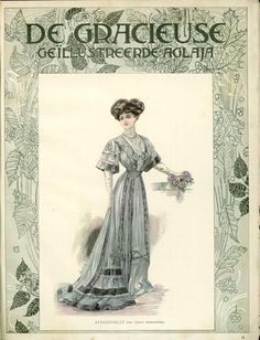 Netherlands, 1907, the cover of De Gracieuse