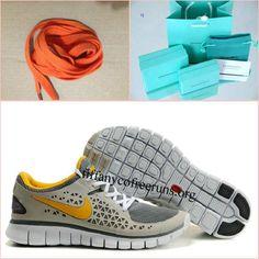 Mens Nike Free Run Grey Yellow Shoes