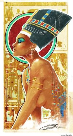 OMG!! Love this!! Nefertiti by Lorena Carvalho. I want this printed.