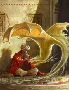 The Dragon Charmer or, How to Train Your Indian Dragon. I've been looking at a lot of Orientalist art lately, just wanted to paint something in the same vein. An alternate India where dragons existed seemed like a cool thing to paint Fantasy Inspiration, Character Inspiration, Character Art, Character Design, Fantasy Artwork, Chiaroscuro, Dragon Art, Snake Dragon, Magical Creatures