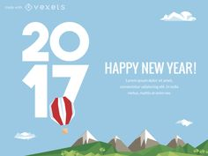 Editable design featuring a 2017 poster or greeting card maker. Swap and choose between multiple labels and designs, as well as backgrounds. You can also add and edit text or other elements. Happy New Year!