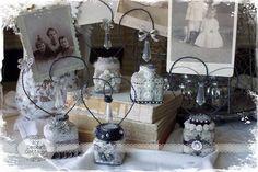 **My Desert Cottage**: Vintage Inkwell Bottles for Vendor Night at Downton