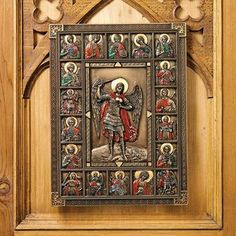 St. Michael, the Archangel Cathedral Icon Wall Sculpture $45.00