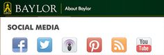 #Baylor University's social media offerings have been repeatedly named among the best in the nation. #sicem (click to learn more, repin to spread the word)