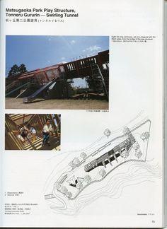 THE PLAYGROUND PROJECT at Carnegie Museum of Art, showcasing: Mitsuru (Man) Senda *1941, architect, Tokyo: Matsugaoka Park Play Stucture, 1991: Tonneru Gururin (Swirling Tunnel)