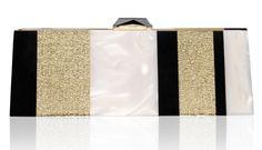 Levin Clutch #eveningclutch #eveningbag #KOTUR #goldclutch #summerclutch #redcarpet #perspexclutch #white #black #clutch