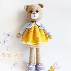Amigurumi Bayan Ayı Yapılışı-Amigurumi Miss Bear Free Pattern | Tiny Mini Design