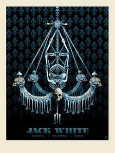 Jack White Poster (Paris) by Methane Studios (via Inside the Rock Poster Frame)