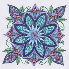 Zentangle Coloring Page Mandala1 by JBArtistryShop on Etsy