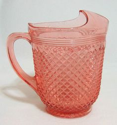 Anchor Hocking Miss America Pink Depression Glass. Pink Depression Glass goes so well with Red Transferware!