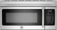 Bertazzoni KOTR30X 1.6 cu. ft. Over-the-Range Microwave with Sensor Reheat, Sensor Defrost, 10 Power Levels, 1,000 Watts of Power and 300 CFM