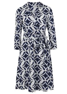 "Kate Middleton's blue geometic print ""Patrice"" dress worn in the Blue Mountains tour, Sydney 2014 royal visit"