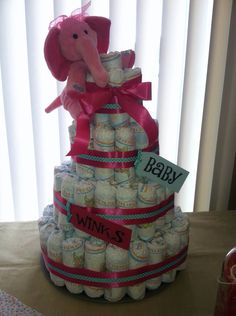 Diaper cake.