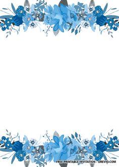 Blank Wedding Invitation Templates, Wedding Invitation Background, Free Printable Birthday Invitations, Free Wedding Invitations, Floral Invitation, Disney Invitations, Flower Background Wallpaper, Flower Backgrounds, Frame Background