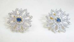AMERICAN DIAMOND SAPPHIRE EARRINGS