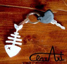 Progettino lampo! Dopo aver realizzato lo scheletrino per Lisky, ho voluto crearne un altro in miniatura per usarlo come portachiav...