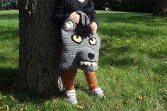 Werewolf Halloween Trick-or-Treat Bag Hand by StitchedInADream