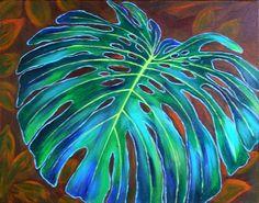 Colorful Drawings, Art Painting, Leaf Art, Batik Art, Painting, Plant Art, Plant Painting Art, Abstract, Seascape Paintings