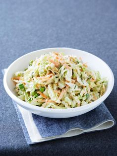 Freezer Coleslaw is an easy and delicious make ahead side dish salad recipe that tastes fresh even after it's been frozen.