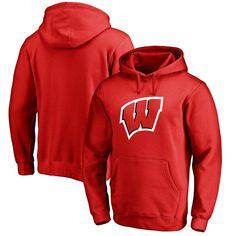 Wisconsin Badgers Primary Logo Fleece Pullover Hoodie - Red