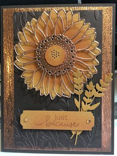 Stampin' Up! Birthday Cards For Friends, Handmade Birthday Cards, Greeting Cards Handmade, Big Shot, Stampin Up Anleitung, Sunflower Cards, Stampin Up Catalog, Stamping Up Cards, Thanksgiving Cards