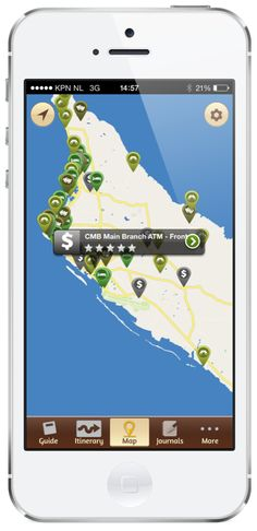 Find your way easy with the Aruba Travel Guide  map.   IOS: https://itunes.apple.com/us/app/aruba-travel-guide/id526111011?mt=8   Android: https://play.google.com/store/apps/details?id=com.aruba.guide&hl=en