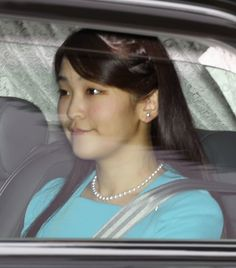 Princess Mako, the granddaughter of Japanese Emperor Akihito and Empress Michiko, leaves her residence in central Tokyo on May 31, 2017, f...