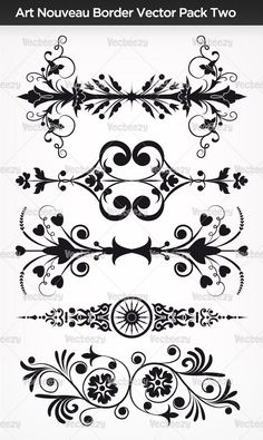 border designs found on Artnouveauvectors2