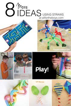 8 more ideas using straws