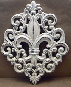 Fleur de lis Ornate Decorative Cast Iron by TamarasTreasureTrove