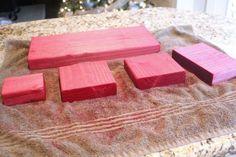 Photo Blocks using Rit Dye to dye wood