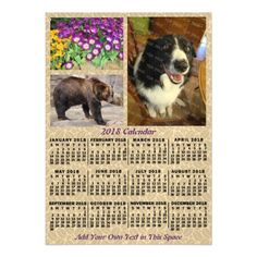 2018 Year Monthly Calendar Coffee Beans 3 Photos Magnetic Card