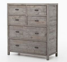 cheap wood dressers. Caminito Grey Reclaimed Wood 6 Drawer Tall Chest Cheap Dressers