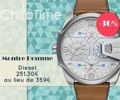 Laissez-vous tentés par cette montre Diesel à 251,30€ au lieu de 359€ !  Voir la montre: https://www.chic-time.fr/montres-homme/80757-montre-diesel-dz7374-4053858618985.html